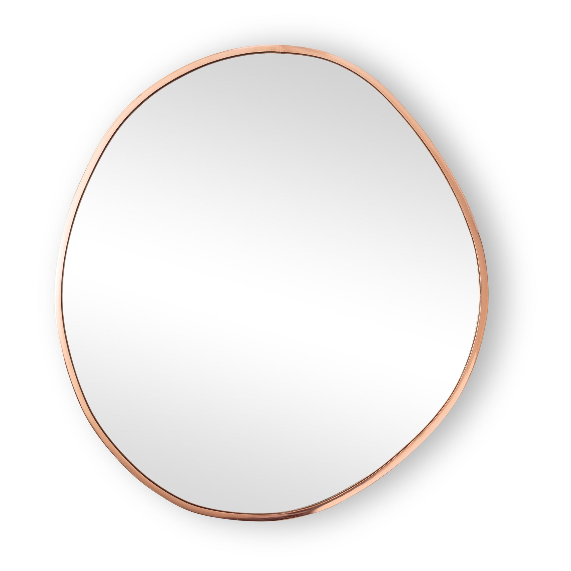 Buy The Large Rose Gold Pebble Wall Mirror At Oliver Bonas