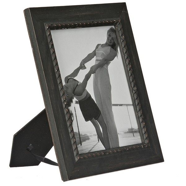 Black Rope Wooden Picture Frame, 8x10 (66 DKK) ❤ liked on Polyvore ...