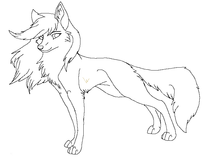 Lineart Wolf New 1 By Raven Morticia On Deviantart Wolf Colors Animal Coloring Pages Wolf Drawing