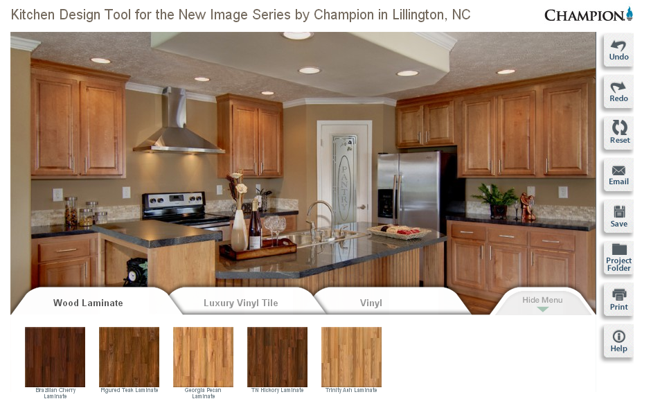Design Your Dream Kitchen Use This Cool Tool From Champion Homes Unique Kitchen Countertop Design Tool Decorating Inspiration