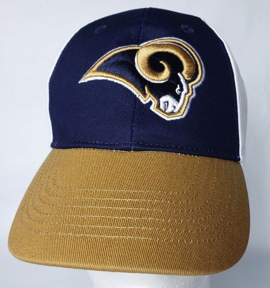 release date: a81dd db0cb Youths 8-20 NFL Los Angeles Rams Logo Navy Gold White Adjustable Hat Cap  New  NFL  LosAngelesRams