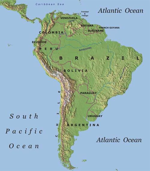Topographical Map Of South America Topographic Map South America   . Repinned by Elizabeth VanBuskirk  Topographical Map Of South America