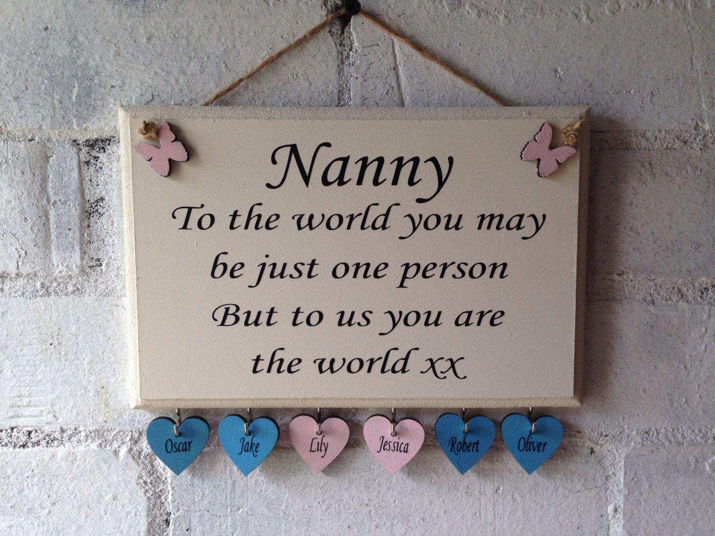 Handmade Photo Plaque Rustic Shabby Chic Mother Daughter Mum Nan Gift