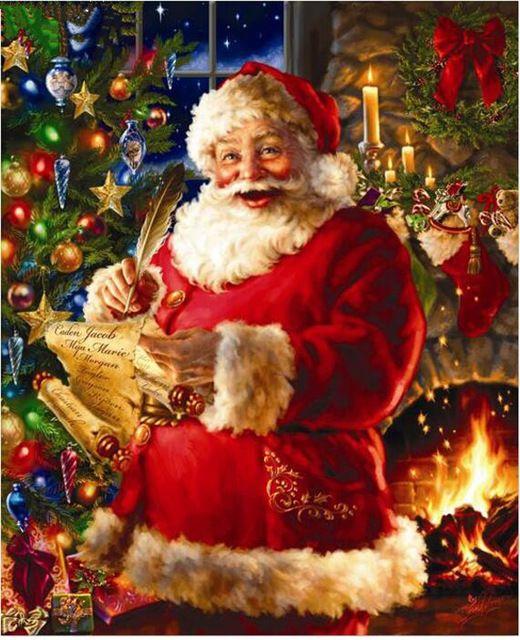 diy diamond embroidery santa claus round rhinestone 5d diamond painting cross stitch christmas affiliate