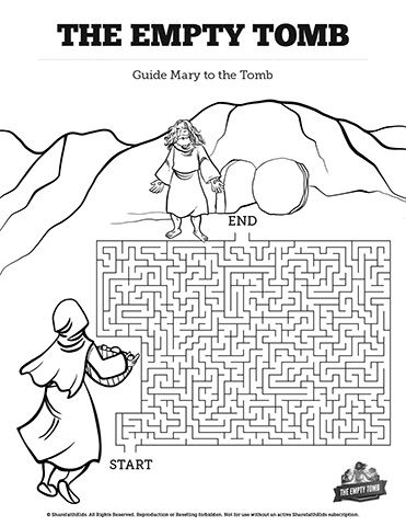 John 20 The Empty Tomb Bible Mazes: Featuring artwork from