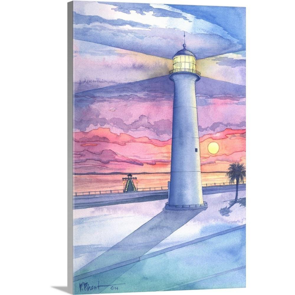 Greatbigcanvas Biloxi Lighthouse Mississippi By Paul Brent