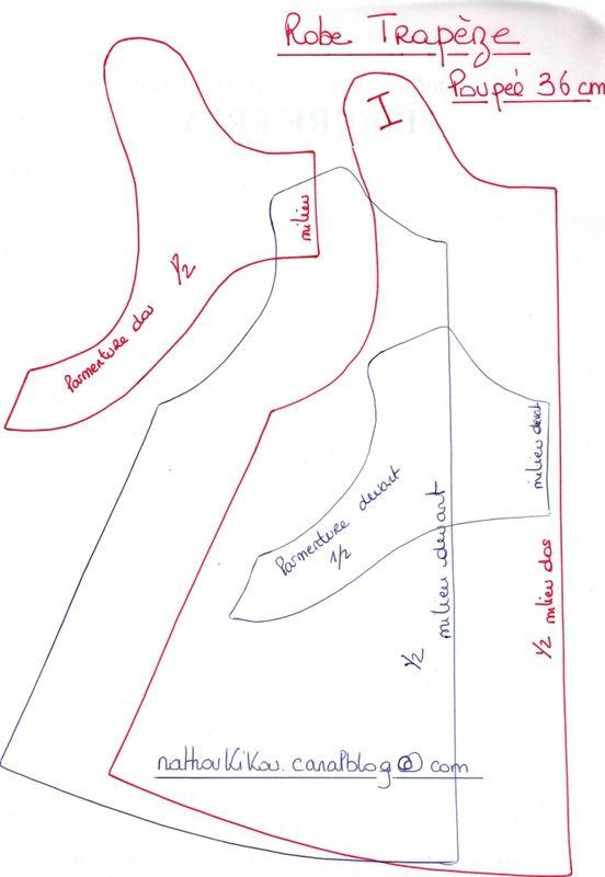 patron robe trapeze poupee corolle 36 cm couture pinterest trap ze patron et vetement poupee. Black Bedroom Furniture Sets. Home Design Ideas