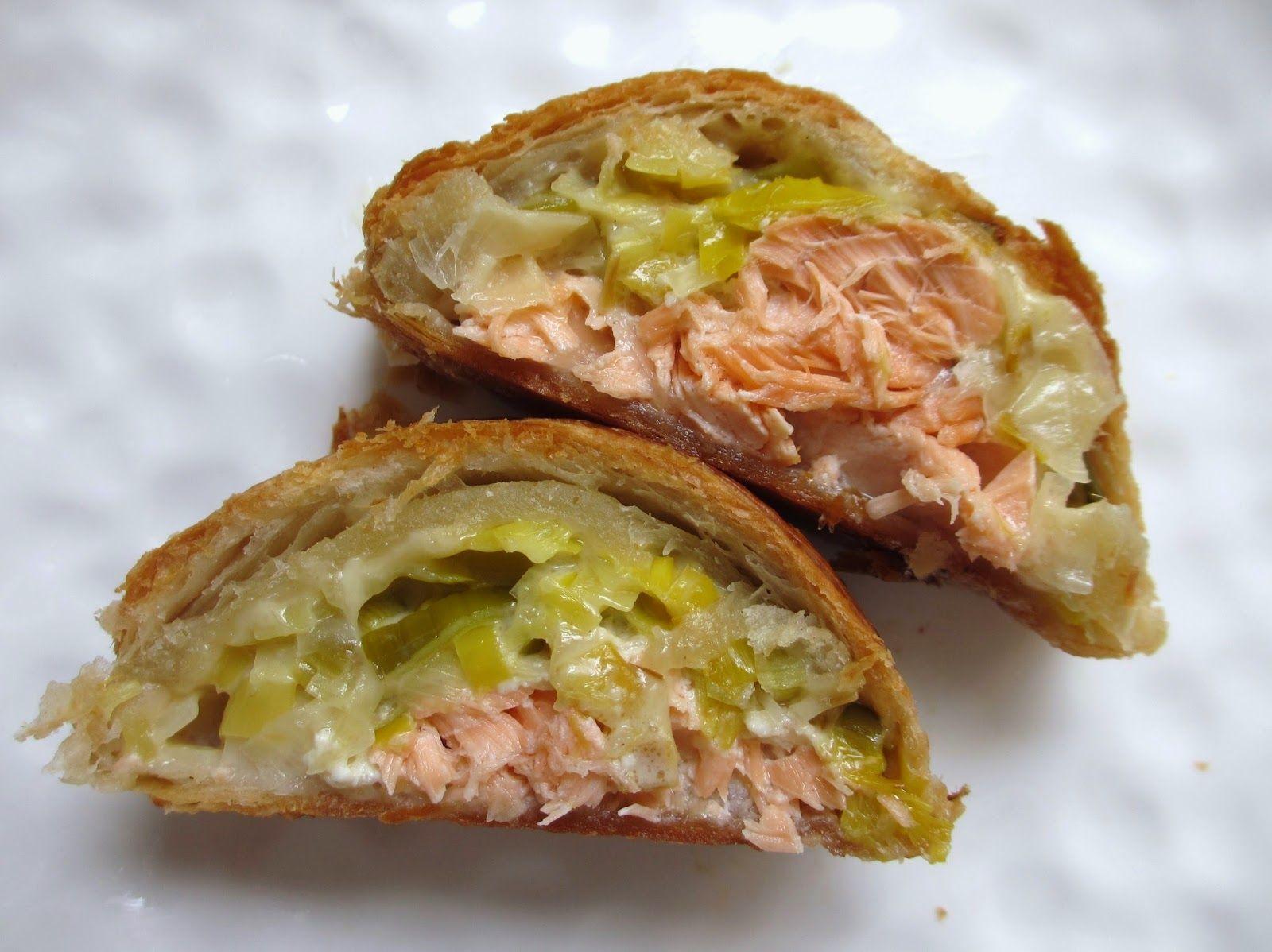 feuillete tresse au saumon et poireaux html cuisine f