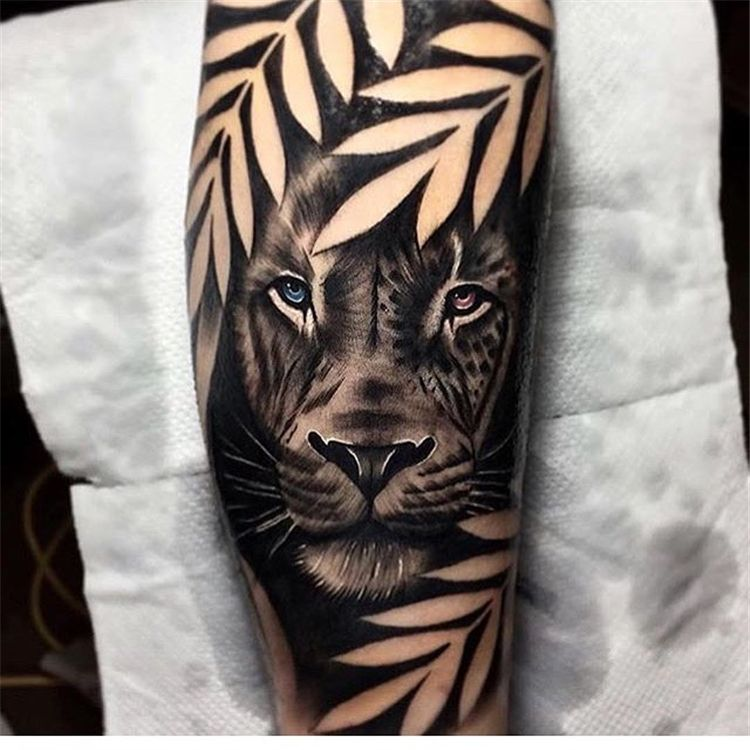 53 Cool Animal Tattoo Ideas Animal Sleeve Tattoo Lion Tattoo Sleeves Jungle Tattoo