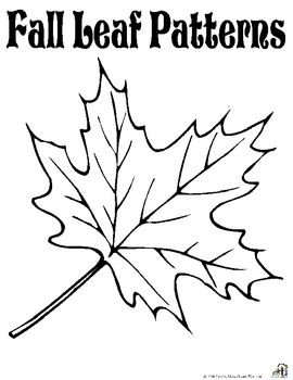 Free Fall Leaf Patternscheck Out Our Other Great Fall Products Fall Leaves Coloring Pages Leaf Coloring Page Free Printable Coloring Pages