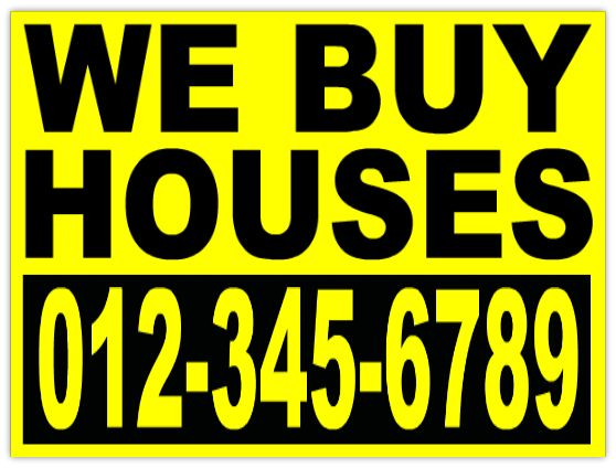 Design Your Investor We Buy Houses Real Estate Signs By Customizing This Template To Make Bandit Signs Once You Open Th Bandit Signs We Buy Houses Home Buying