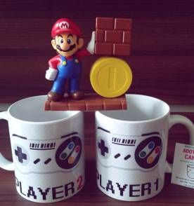 Kit Canecas player 1 e player 2