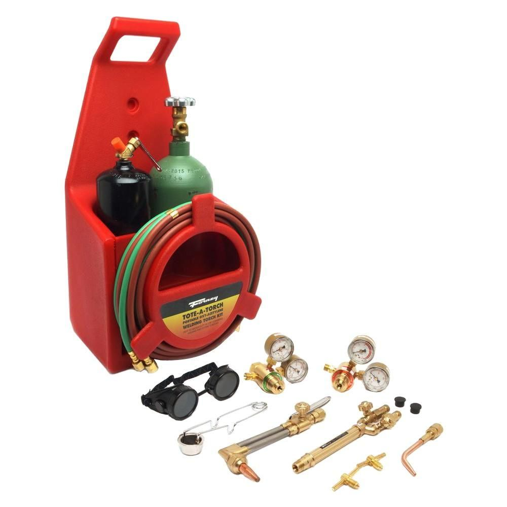 Professional Oxygen Acetylene Torch Kit Oxy Cutting Torch Kit with Tank Portable Welding//Cutting//Brazing Outfit Red