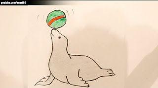 Como Dibujar Una Foca Youtube Pluto The Dog Art Fictional Characters