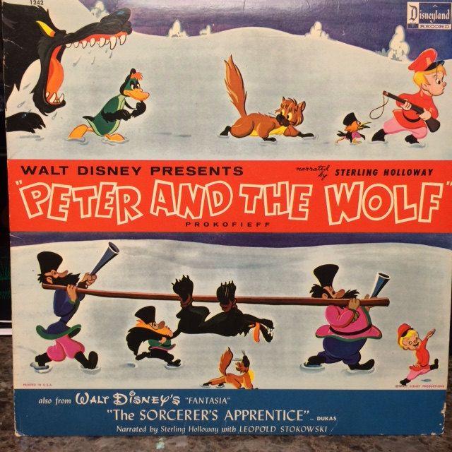 Disney S Peter And The Wolf Vinyl Record From 1963 Walt Disney Kids The Sorcerer S Apprentice Disney Presents