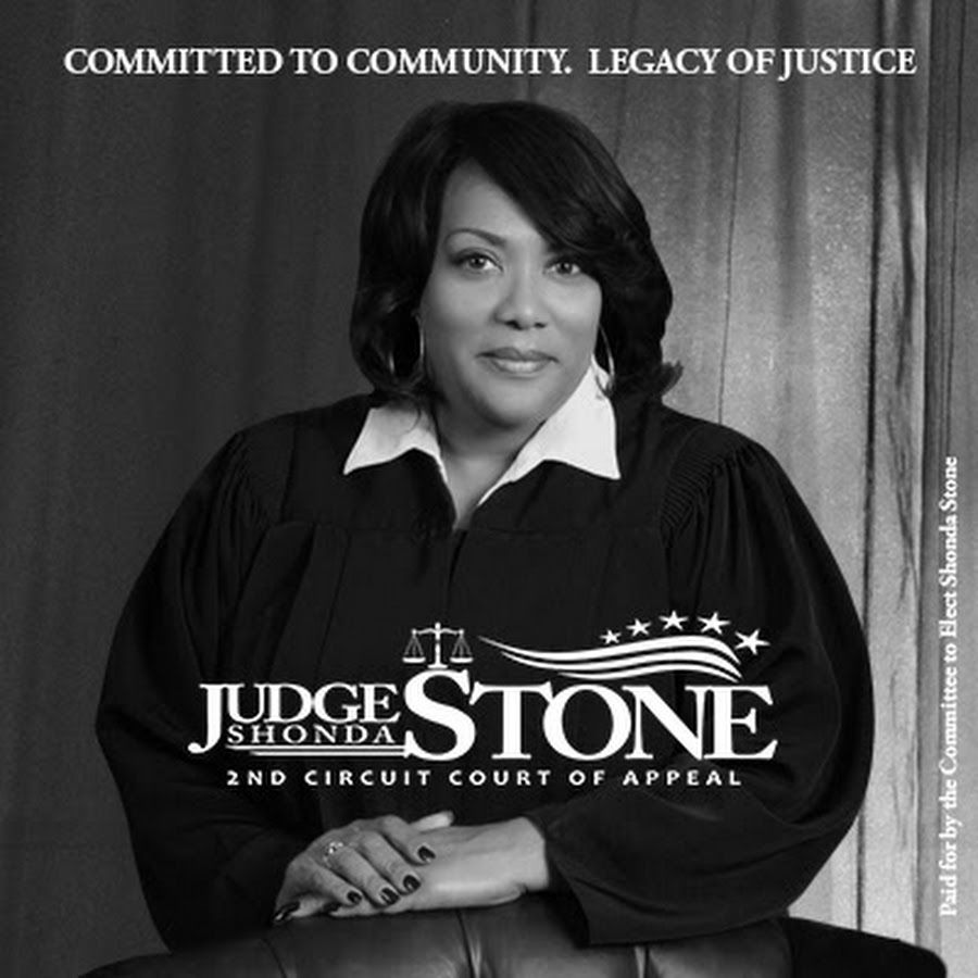Shonda Stone is a judge on the Louisiana Second Circuit Court of Appeal. She was elected to the court on March 5, 2016, succeeding James Stewart in a term that expires on December 31, 2024. Stone previously served as judge on the Caddo Parish Juvenile Court.   Stone received her undergraduate degree from Southern University and her J.D. from Southern University School of Law.