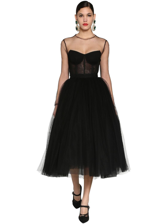 Dolce Gabbana Corset Puff Skirt Tulle Net Midi Dress We Select Dresses Black Corset Dress Short Dress Red Dresses [ 1500 x 1125 Pixel ]