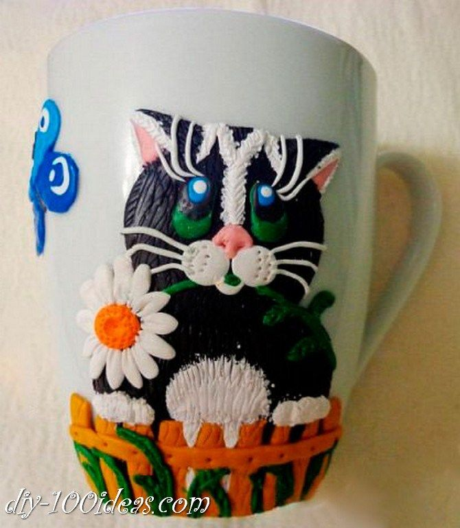 how to decorate a mug with polymer clay decor ideas. Black Bedroom Furniture Sets. Home Design Ideas