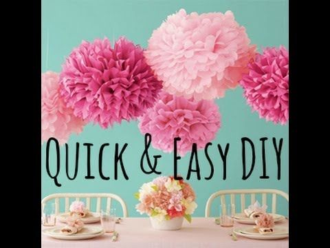 I just made some hot pink ones for a party and theyre so cute tutorial diy video on how to make tissue pom poms for room decoration or party decorations if this tutorial helped please like so i can know your opinion solutioingenieria Images