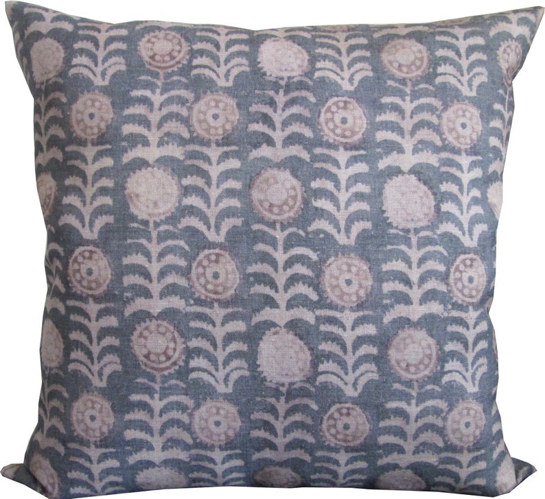 Tansy In Smoke Grey Pillow Cover High
