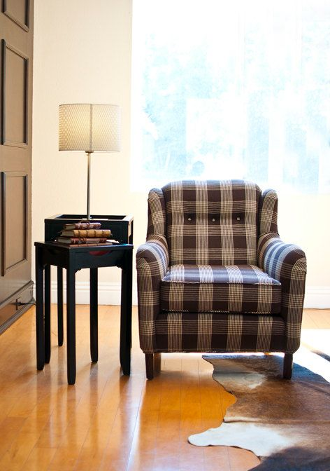 Plaid Upholstery Cowhide Rug Sofa Couch Design Sofa Design Cool House Designs