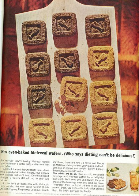 1960s Metrical Diet cookie -otherwise known (at least in my memory) as 'chocolate flavored sawdust!'