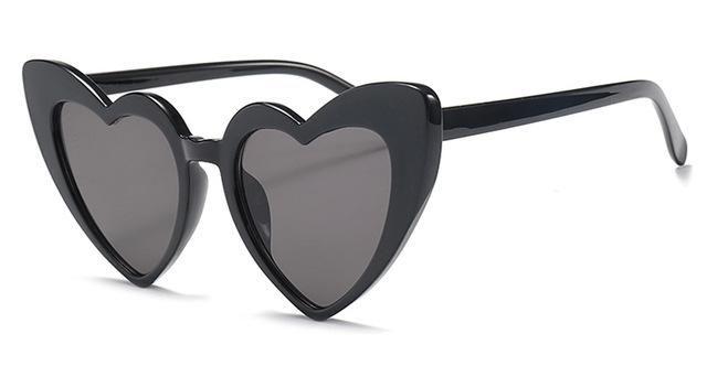 df24226548 Peekaboo love heart sunglasses women cat eye vintage Christmas gift black  pink red heart shape sun glasses for women uv400