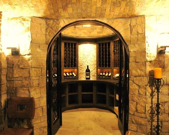 Build wine cellar into curved wall under stairs?Wine Cellar Design