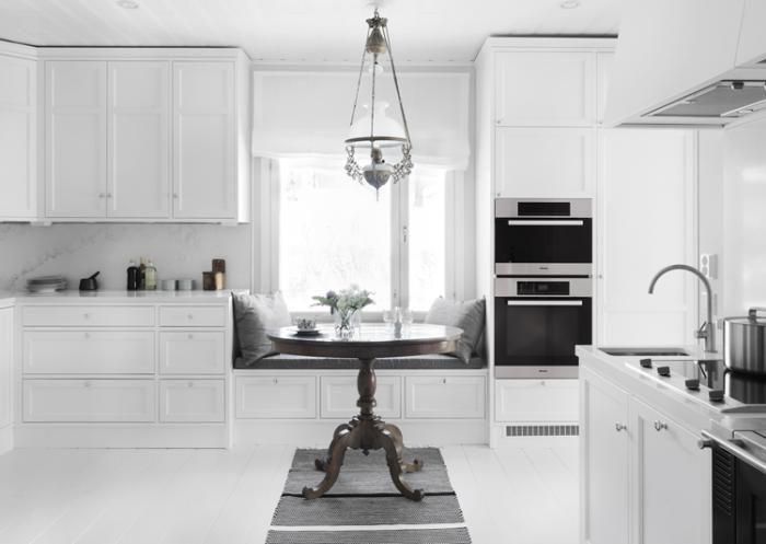 Nixi keittiöt - Penkki matalan ikkunan eteen