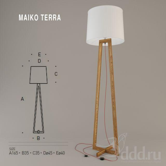 PROFI MAIKO TERRA 3dsMax 2010 + obj (Vray) : Floor lamp : 3dSky - 3d