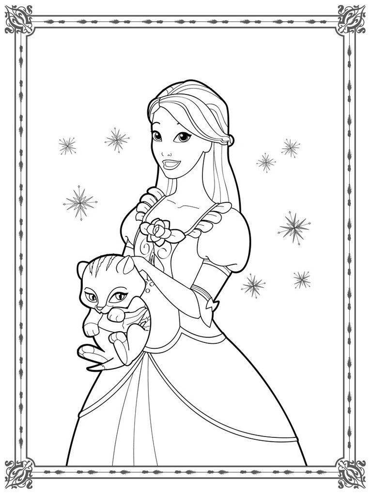 Coloring Pages Of Barbie And 12 Dancing Princesses