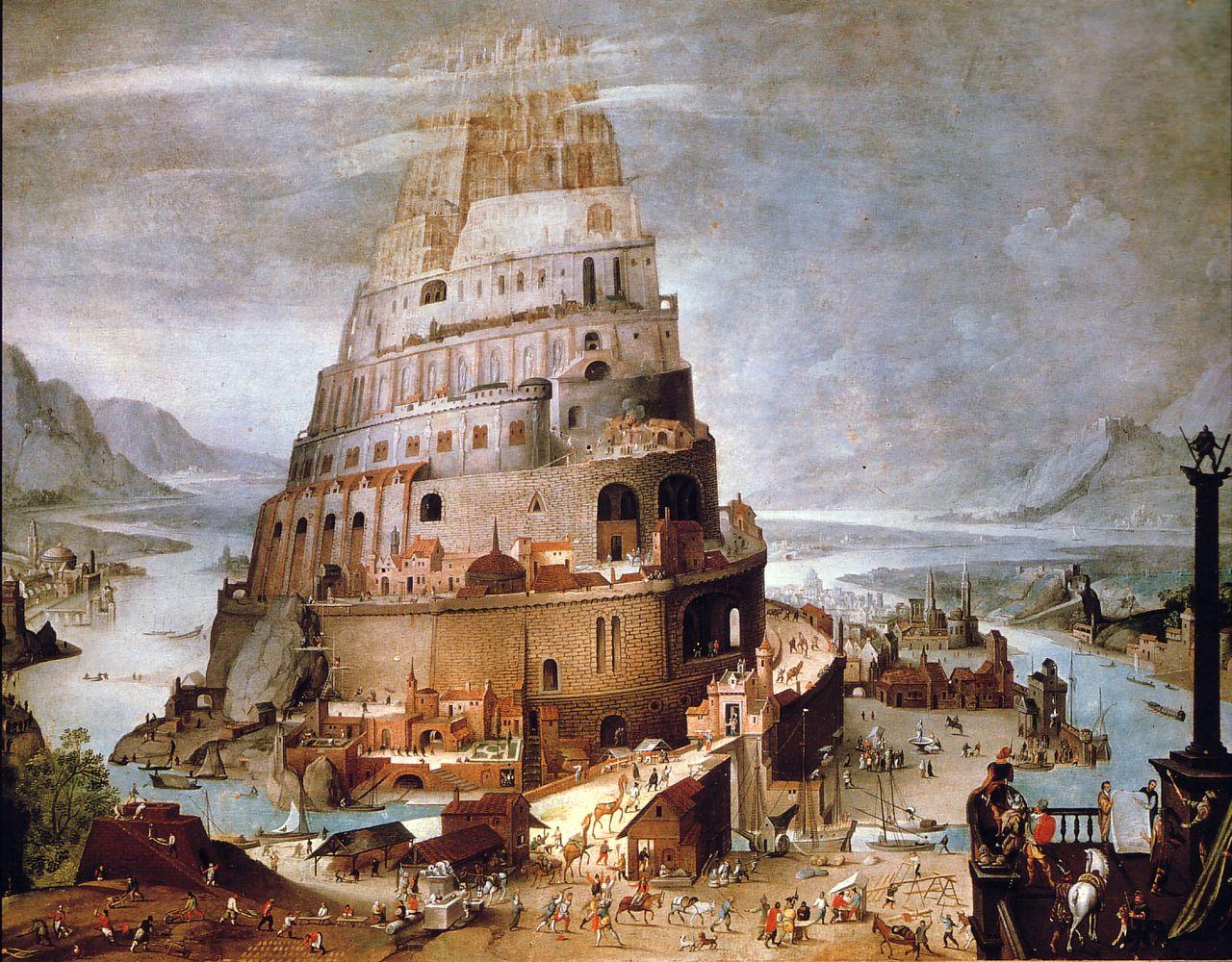 Hendrik III van Cleve - Tower of Babel (Kröller Müller Museum) | Toren van babel, Torens, Toren