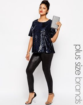 I love this look. New Look Inspire Leather Look High Waist Legging