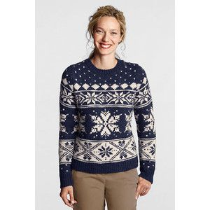 light blue fair isle sweaters | shop tops sweaters lands end ...
