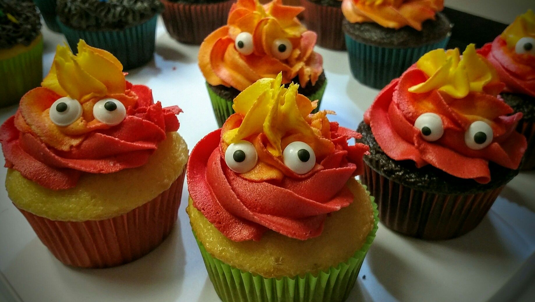 howls moving castle, calcifer cupcakes | cake & party ideas