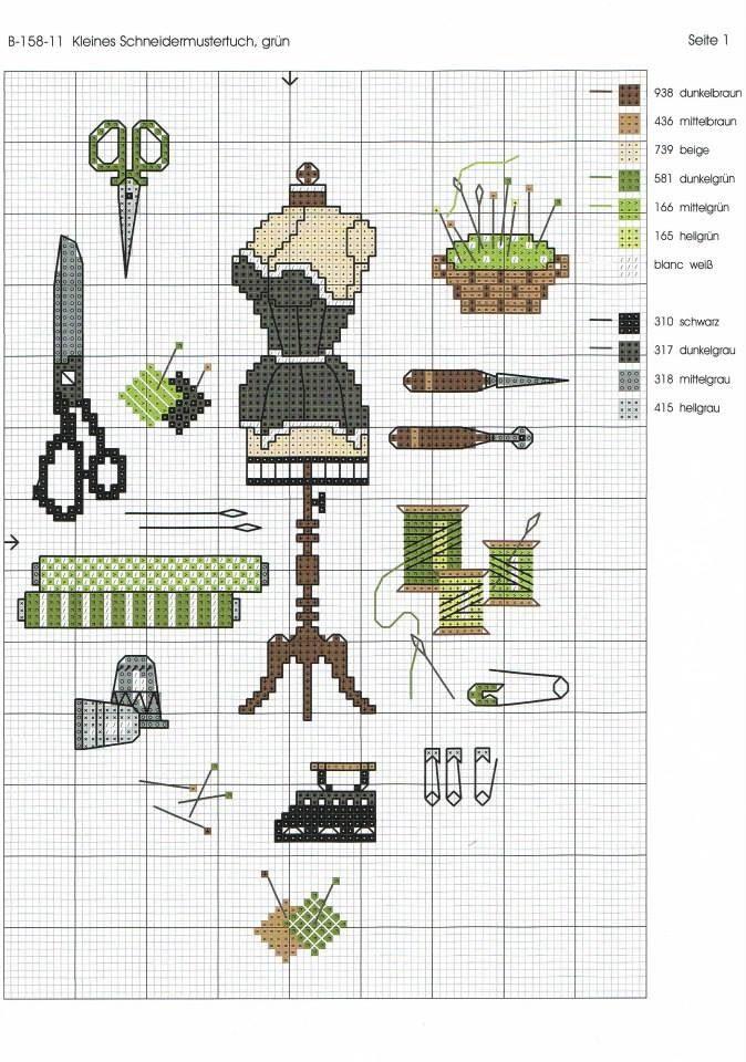 Costura | punto cruz | Pinterest | Costura, Punto de cruz y Puntos