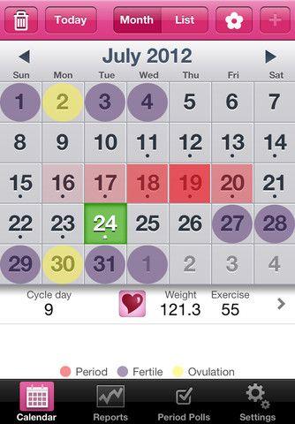 Lady Biz is a portable period/menstrual calendar app by Flatcracker