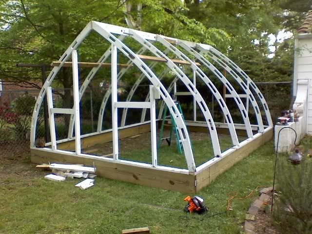 Hi All Im Back From A Looong Vacation This Forum I Have Just Finished My 12x18 Gothic Arch Wood Frame Greenhouse Friend Of Mine And Found It