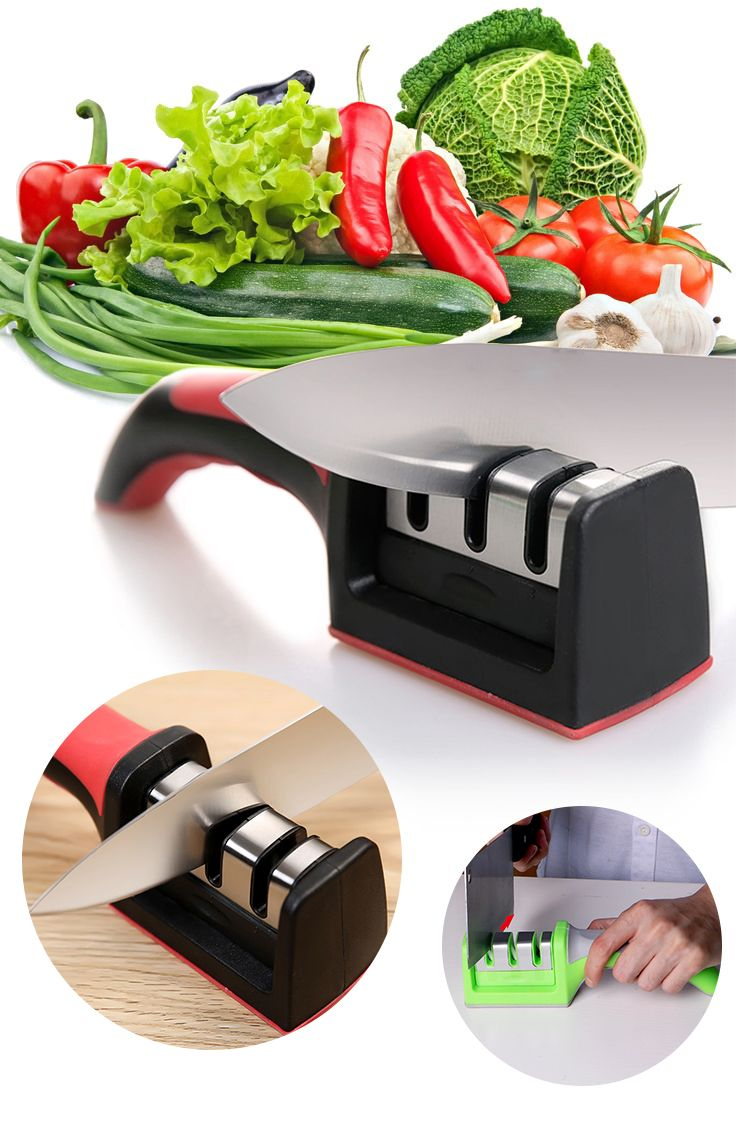 Always sharpen your kitchen knife with this ceramic