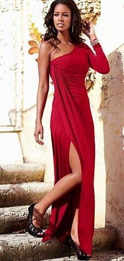 one shoulder long dress ♥✤ | Keep the Glamour | BeStayBeautiful
