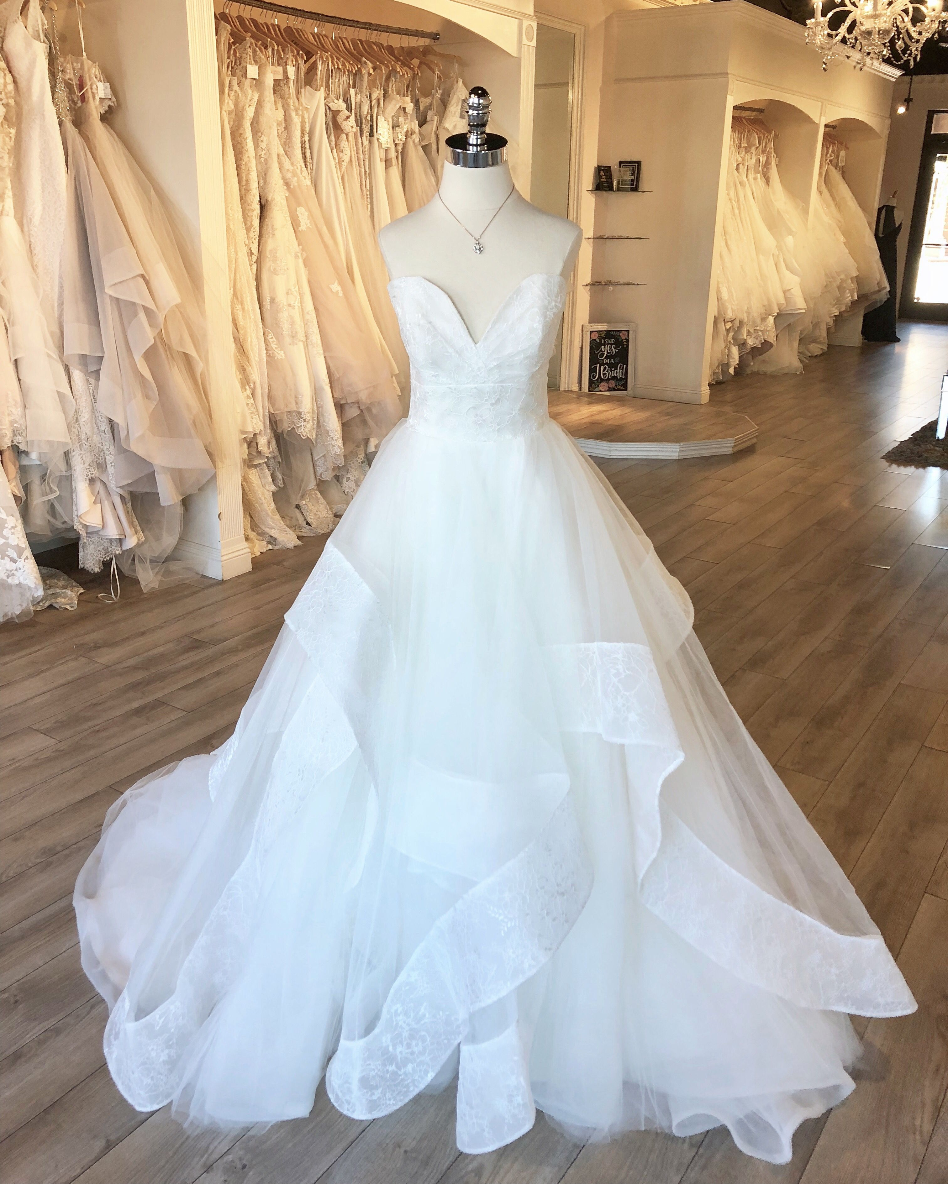 """Fall 2018 Collection Hayley Paige """"Quinn"""" Gown with Sweetheart Lace and  Tulle Layered  Ballgown  WeddingDress  hayleypaige from J Bridal Boutique  in Tucson 6af33b81d6fb"""