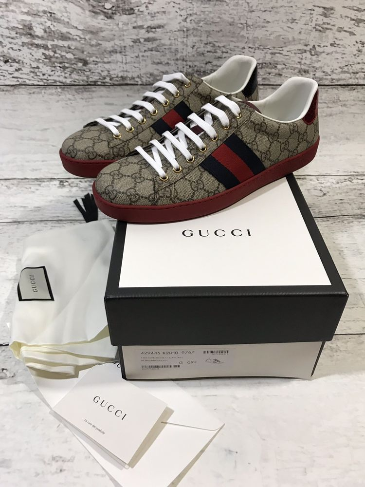 c38fb6ed4be Gucci Monogram Sneakers Mens US Size 9.5 BRAND NEW!!  fashion  clothing   shoes  accessories  mensshoes  casualshoes (ebay link)