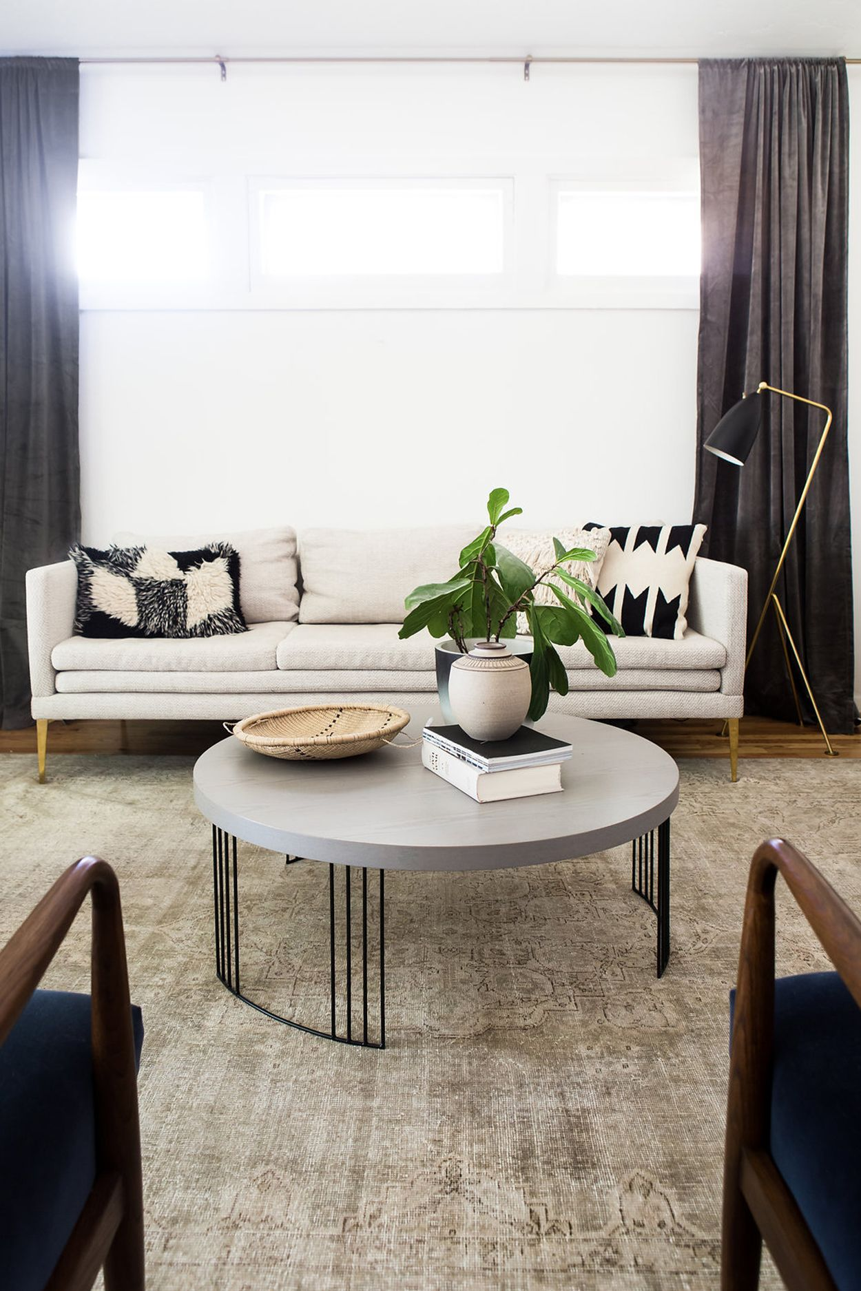 My Favorite Detail On The Sofa Is The Brass Legs
