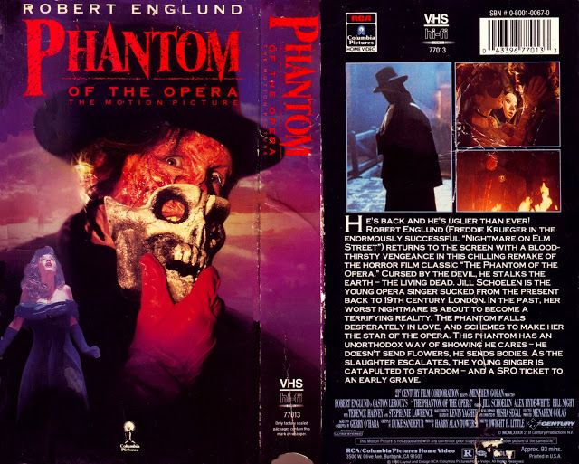 Phantom of the Opera - Release year - 1989  VHS Release