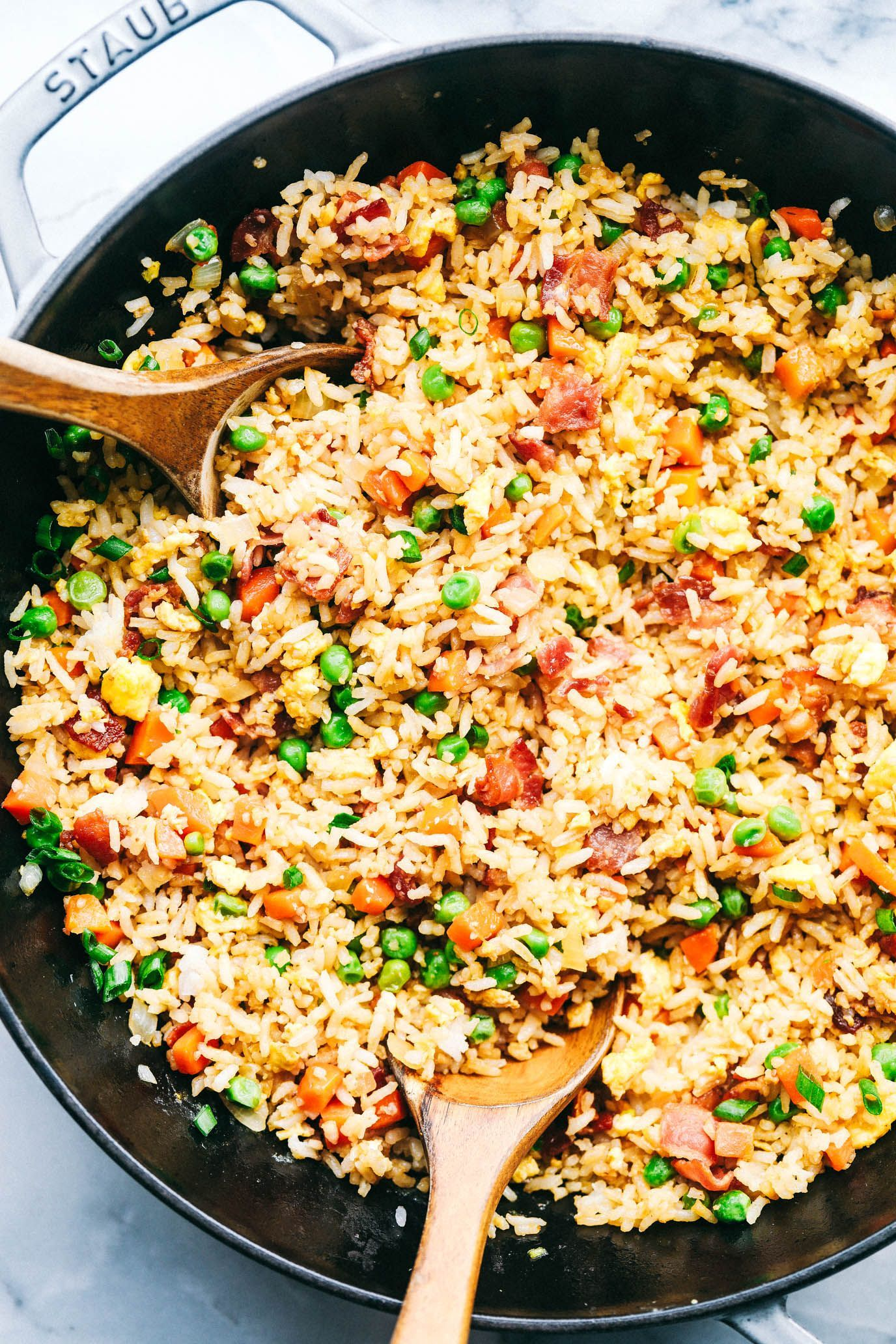 Simple bacon fried rice simple fried bacon -  Simple bacon fried rice  -