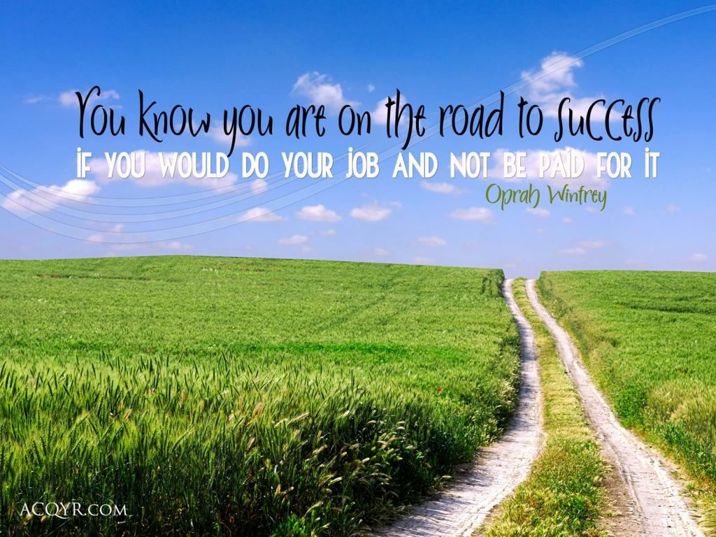 Road To Success Quotes You Know You Are On The Road To Success When Career Wisdom