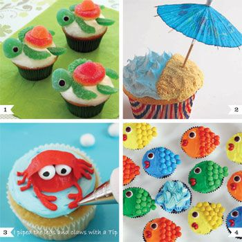 Cupcake Ideas Cute Sea Cupcakes Cupcakes Decoration Beach