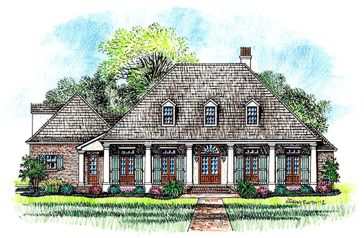 Plan 56364SM 3 Bedroom Acadian Home Plan