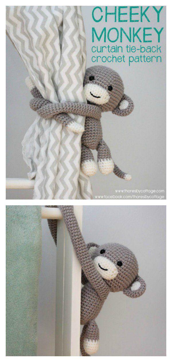 8 Amigurumi Animal Curtain Tie Crochet Pattern
