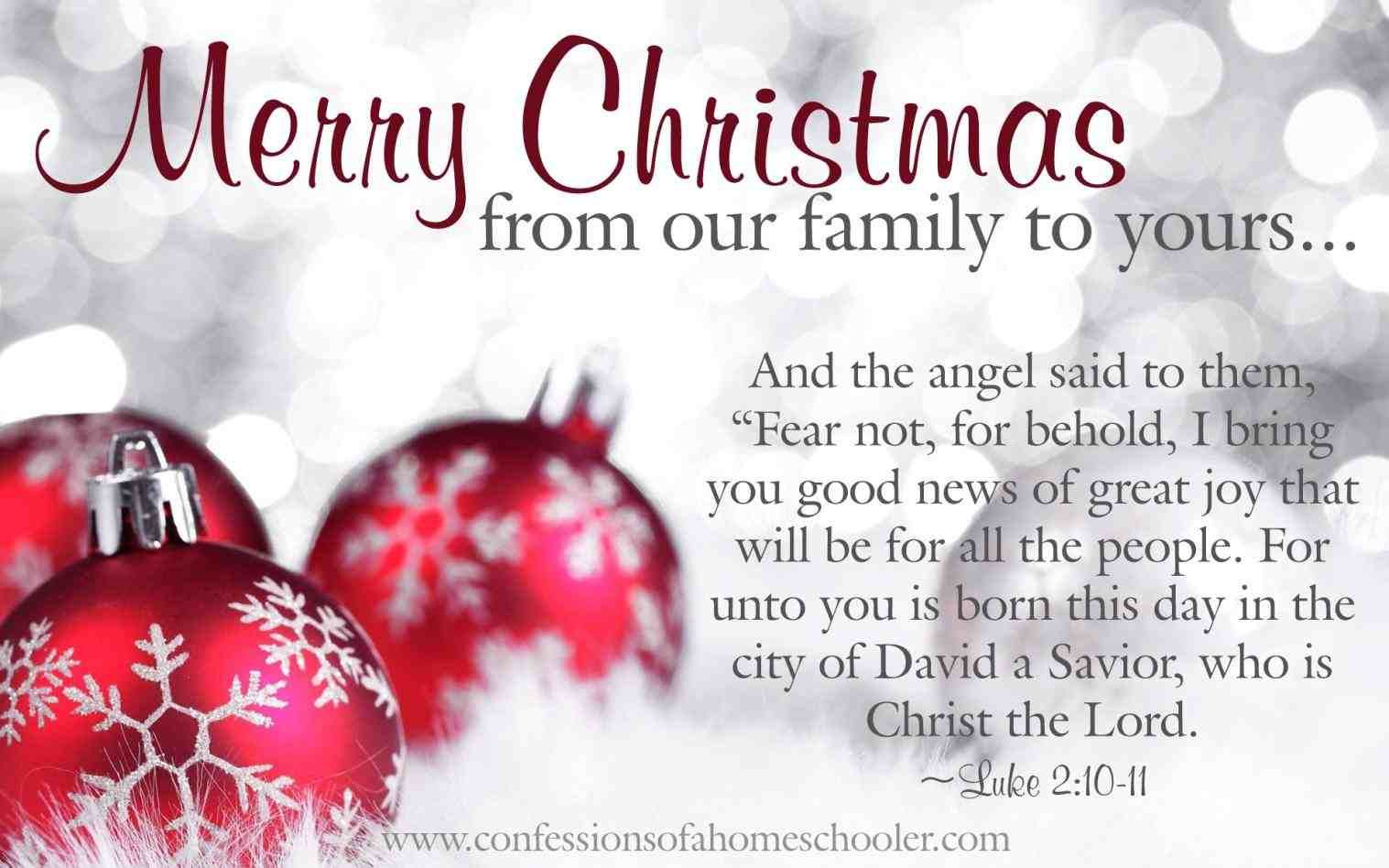 New merry christmas from our family to yours religious at ...